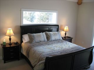 Eagle Crest house photo - The upstairs master bedroom with a King bed .