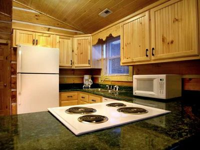 Andrews cabin rental - Full kitchen outfitted for your needs