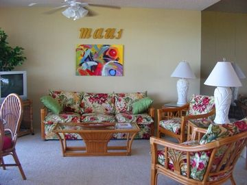 Kihei condo rental - the living room area
