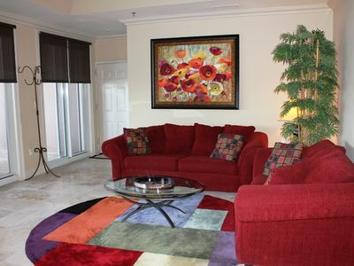 Main living room on Lake Side of condo!