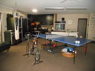 Indian Wells estate photo - Air conditioned carpeted garage full of play and food center
