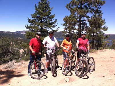 Bear Mountain cabin rental - Take your Bikes on the Ski Chair to the Top of Snow Summit and ride the trails