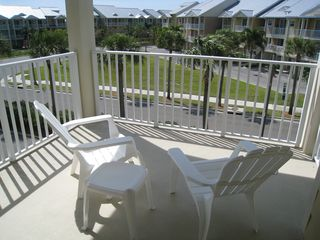 Ruskin condo photo - 2nd bedroom top level balcony. Below is Bahia Beach Blvd.