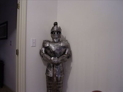 Lexington house rental - Knight in shining armor standing gaurd upstairs at the top of the steps!
