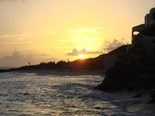 Cupecoy condo photo - View of sunset from our private Beach!!