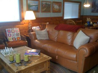 Black Hawk cabin photo - Cozy Living Room with ample seating.