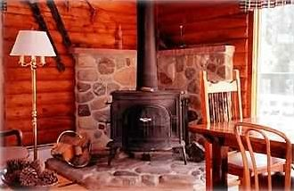 Fireplace with Free Firewood Provided