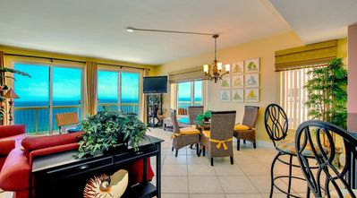 Panoramic view of The Gulf Of Mexico & Panama City Pier from living & kichen