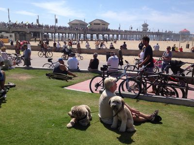 Huntington Beach Pier...Fans watching a Special Event