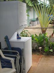 Sunset Beach house photo - New laundry facilities and beach chairs, umbrellas