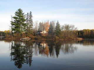 Michigamme River cabin photo - The beautiful 2 acre private Republic Island. Private, tranquil. Nature lovers.