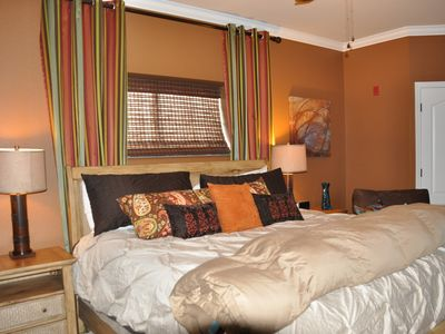 Pigeon Forge condo rental - Master Bedroom Suite with upgraded mattress.