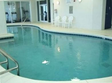 Indoor Pool next to Fitness Room and Sauna.