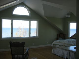 South Haven house photo - Master Bedroom overlooking lake. Beautiful views.