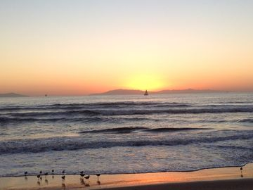Oxnard house rental - Sunset over the Channel Islands