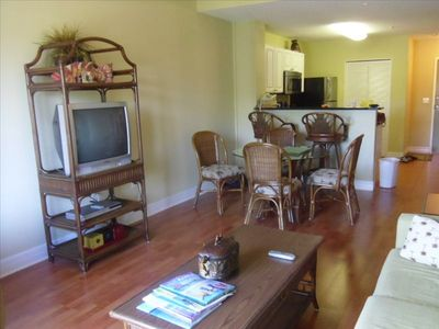Madeira Beach condo rental - Suite has living room, master bedrm, 2nd bedrm/sitting room, kitchen, bathroom