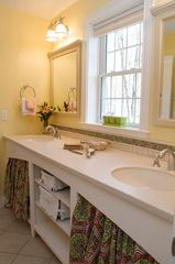 "Boston house photo - 3rd full ""Jack & Jill"" bath with double vanity between girl's BR and office BR"
