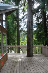 Kalama house photo - Large deck with cedar, now we have a picnic table here (no picture yet)
