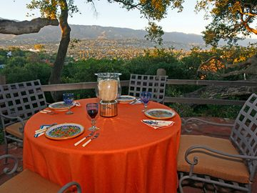 Santa Barbara house rental - View terrace (just outside of great room and kitchen)