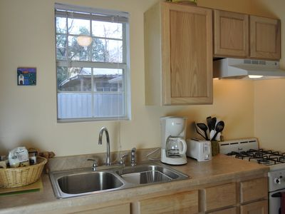 Fully equipped kitchen built in October 2010.