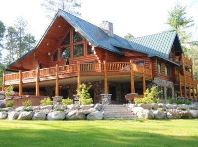 Massive luxurious log home with access to big vrbo for Huge log cabin homes