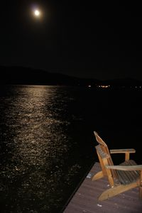 Moonlight on the lake.