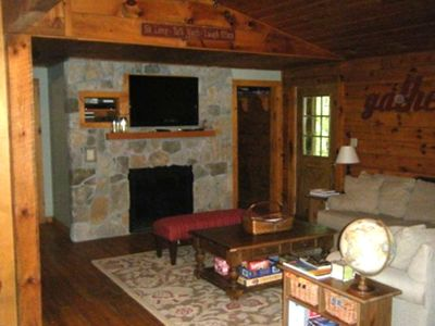 Great Barrington house rental - Flat Screen & Fire Place