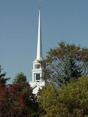 Church one block away on Main Street - Stowe house vacation rental photo