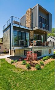 newly-built modern home.