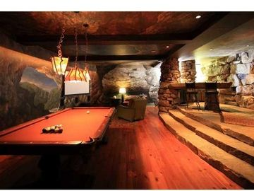 Enjoy the Pool Table, Wet Bar and Home Theater in the Cave