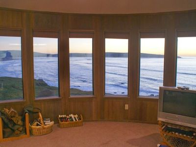 Living Room view of ocean which you get from every living space in the house