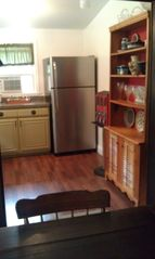 Lancaster apartment photo - Included is a new fridge, appliances, and fresh plates/silverware.