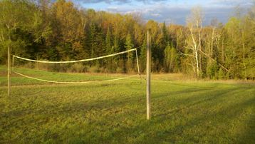 Volleyball Net in the back yard