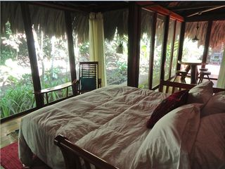 Mountain Pine Ridge villa photo - Trundle on jungle deck set up as king sized bed