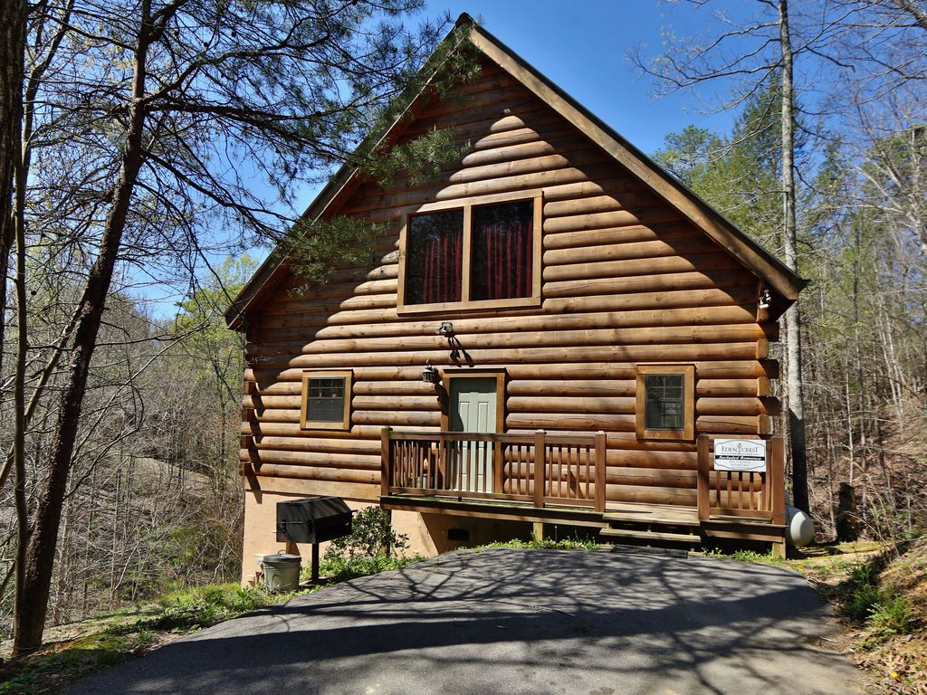 Secluded romance a one bedroom pigeon forge vrbo for 1 bedroom cabin pigeon forge