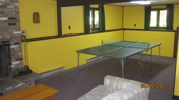 Ping-pong area in lower level.