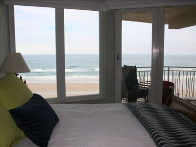master bedroom, facing beach with private access to balcony