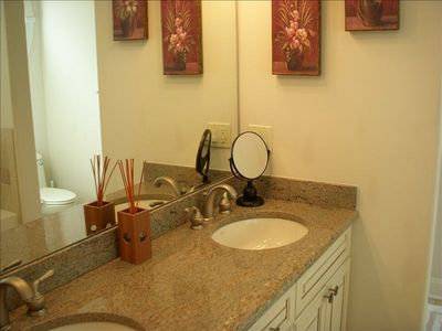 Master Bathroom with granite double sinks