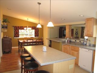 Cassopolis house photo - Open kitchen to dining and living rooms provide for optimal family enjoyment