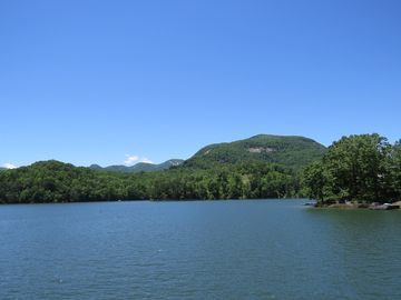 Lake Lure cottage rental - Charming Lake Front Cottage With Gorgeous Mountain Lake Sunset Views!