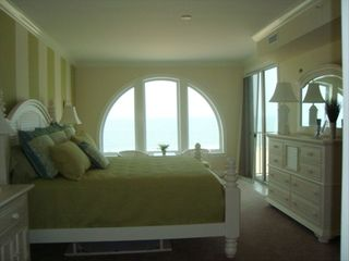 Belmont Towers Ocean City condo photo - Master Bedroom w/Direct Oceanfront Balcony