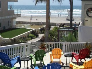 Mission Beach house photo - OceanCatcher - One House from Ocean. Large Deck with Sun and Ocean View