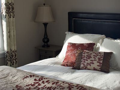 This sunny guest room offers beautiful sun and a great view of Mt. Mansfield