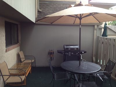 Folly Field villa rental - Patio and Grill Area