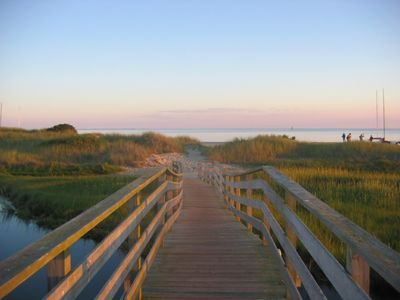 Chatham house rental - Deeded path & bridge take you to the private beach