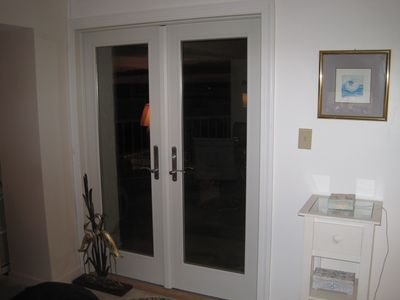 French doors to the balcony