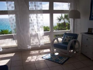 Elbow Cay and Hope Town villa photo - Master bdrm. Note breeze blowing curtains & full wall view of ocean!