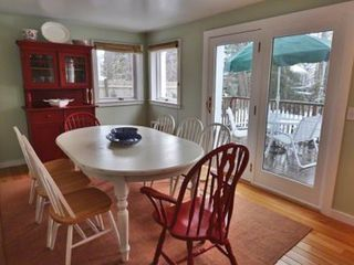 Vineyard Haven house photo - Dining Area Opens Out to Deck For Outdoor Dining & Entertaining