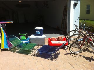 New Smyrna Beach house photo - Chairs, coolers and other toys.