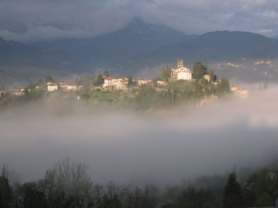a magic view from La Serra di Barga